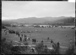 Rugby game at Manunui