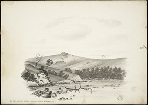 Backhouse, John Philemon 1845-1908 :Old blockhouse at the Whau, Manukau Harbour, Auckland, N.Z. 16.5.[18]71.