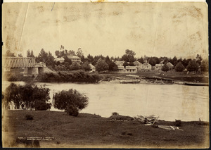View of part of Ngaruawahia - Photograph taken by Burton Brothers