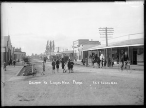 Belmont Road, Paeroa - Photograph taken by Fred E Flatt