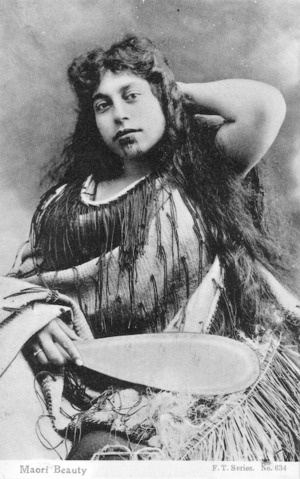 [Postcard]. Maori beauty. F.T. series. no. 634. [ca 1910-20].