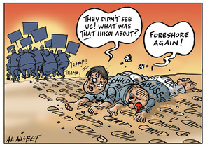 """Nisbet, Alistair, 1958- :""""They didn't see us! What was THAT hikoi about?"""" ... 30 June 2011"""
