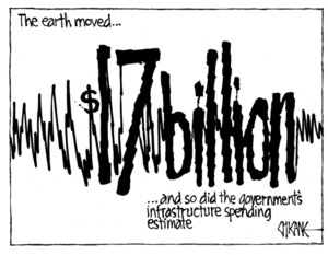 Winter, Mark 1958- :The earth moved ... and so did the government's infrastructure spending estimate. 5 July 2011