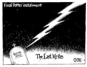 Winter, Mark 1958- :The last writes. 8 July 2011
