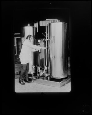 Man working in Lion Brown Brewery