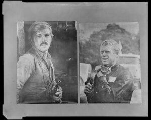 Film stills with Steve McQueen and Robert Redford