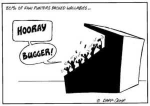 Crimp, Daryl, 1958- :80% of Kiwi punters backed Wallabies... 15 July 2002.