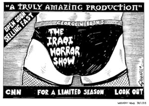 Greenall, Frank, 1948- : George W. Bush's The Iraqi Horror Show. Weekday News, 30 January, 2003.