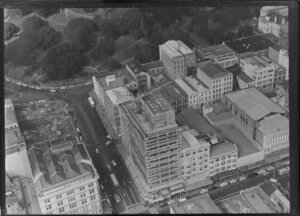 Construction of the Australian Mutual Provident Society building, Auckland