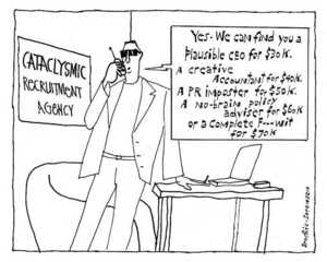 Brockie, Robert Ellison 1932- :Cataclysmic Recruitment Agency. National Business Review. 3 May, 2002.