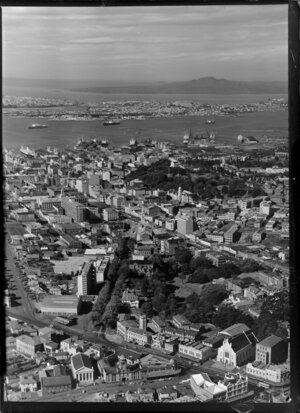 Auckland city, Rangitoto Island in the distance