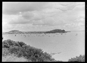 Yachting, spinnaker run, Auckland