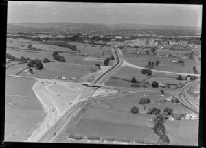 Auckland Southern Motorway at Redoubt Road