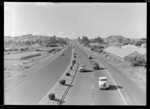 Road traffic, Southern Motorway, Penrose, Auckland
