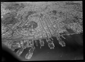 Central business district and wharves, Auckland