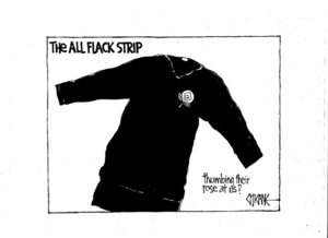 Winter, Mark, 1958- :The All Flack strip - thumbing their rose at us? 16 July 2011