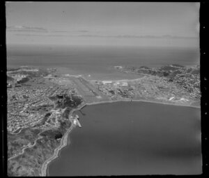 Evans Bay and Rongotai, with Wellington Airport