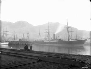 Ships at Lyttelton Wharf