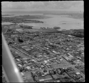 Suburb of Otahuhu, looking across to Mangere Domain, Auckland