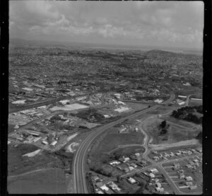 Penrose industrial area, Southern Motorway, subdivision development, Penrose, Auckland
