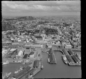 Auckland wharf, looking towards Mount Eden Domain
