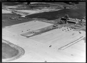 Auckland airport under construction, Mangere, including control tower