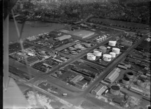 Shell and Plume oil tanks, Westhaven, Auckland