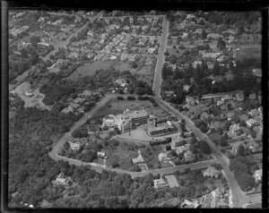 Epsom, Auckland, showing Mountain Road, Mercy Ascot Hospital and surrounding area