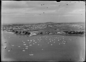 Bastion Point, Orakei, Auckland, including lots of boats