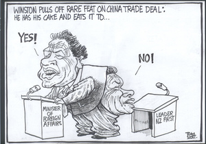 """'Winston pulls off rare feat of China trade deal, he has his cake and eats it too...' """"Yes!"""" """"No!"""" 10 April, 2008"""