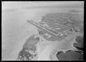 Auckland International Airport, Mangere, under construction