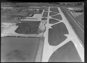 Auckland airport at Mangere, under construction