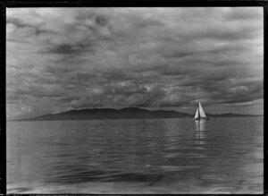 Yachting, Coromandel Range from Waiheke Island