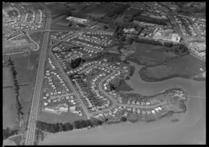 Housing in Otara, Manukau City, Auckland, including Tamaki River