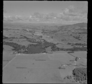 Waikato River, Lake Karapiro and surrounding farmland