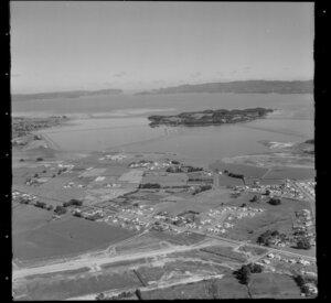 Mangere, with Puketutu Island in Manukau Harbour, Manukau City