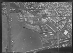 Auckland Markets of Turners and Growers, with Viaduct Harbour