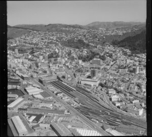 Wellington, including Wellington Railway Station and surrounding area