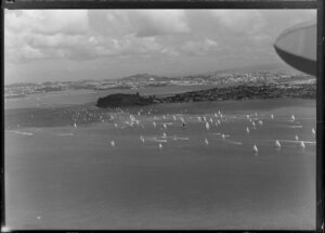 Yachts in Waitemata Harbour, Auckland, which are racing to Suva, Fiji