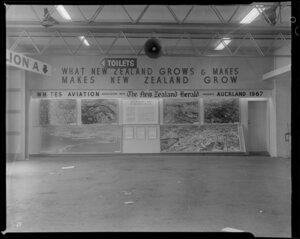 Whites Aviation and The New Zealand Herald murals at the Easter Show