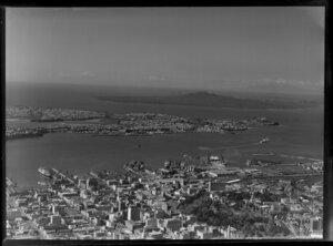 Auckland city, including Waitemata Harbour