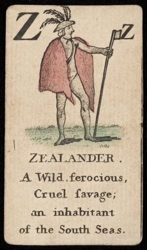 Artist unknown :Z. Zealander; a wild ferocious cruel savage; an inhabitant of the South Seas [London? ca 1790?]