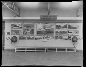 Display of photographs by Whites Aviation for Easter Show, 1968