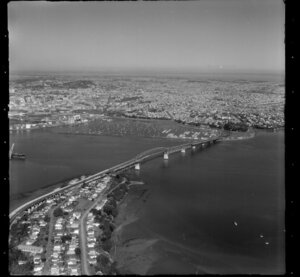Auckland Harbour Bridge and Westhaven, Auckland