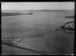 Waitemata Harbour, Auckland, including Tamaki Drive and the Outboard Boating Club of Auckland