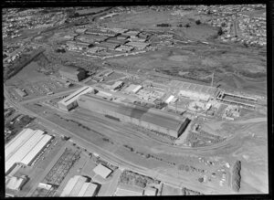 Favona Road [James Fletcher Drive], Otahuhu, Auckland, featuring factories of Pacific Steel Group