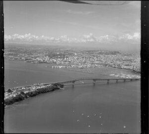 Waitemata Harbour, Auckland, including Auckland Harbour Bridge