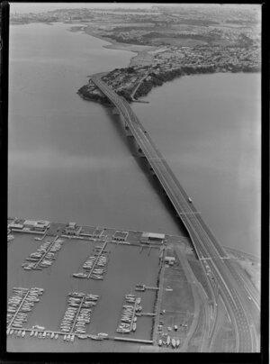 Westhaven Marina, including Auckland Harbour Bridge