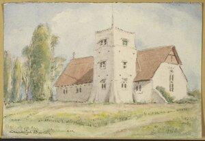Barton, Cranleigh Harper, 1890-1975 :St. Barnabas' Church, Woodend. [ca 1950]