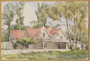 Barton, Cranleigh Harper, 1890-1975 :Mr Thomas' Homestead, Canterbury. [ca 1950]